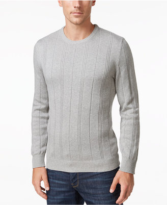 John Ashford Men's Crew-Neck Striped-Texture Sweater, Only At Macy's $50 thestylecure.com