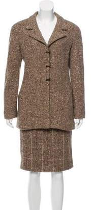 Chanel Wool Tweed Skirt Suit