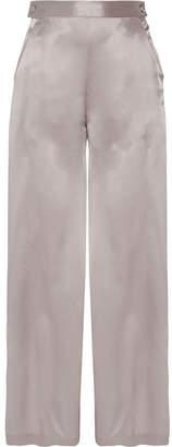 Fleur Du Mal Silk-charmeuse Pajama Pants - Stone
