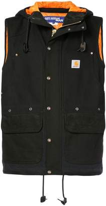 Junya Watanabe hooded zipped vest