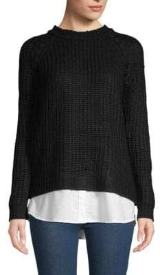 BB Dakota Consider It Done Cable-Knit Sweater