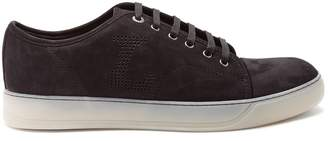 Lanvin Low-top nubuck leather trainers