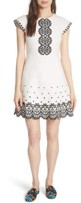 Kate Spade Ria Embroidered Eyelet A-Line Dress