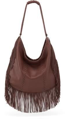 Hobo Gypsy Fringe Calfskin Leather