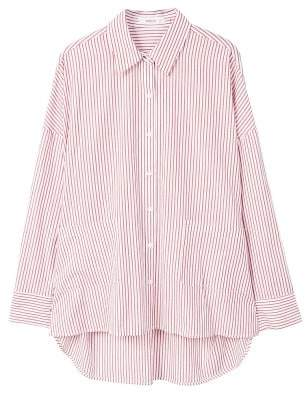 MANGO Pocket striped shirt