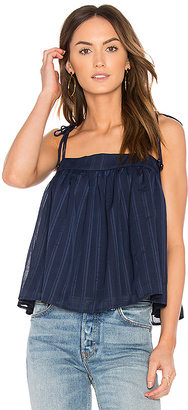 Line & Dot Desi Cami in Blue $55 thestylecure.com