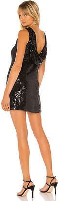 Alice + Olivia Kamryn Sequin Cowl Back Dress
