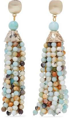 Kenneth Jay Lane Gold-Tone Bead Clip Earrings