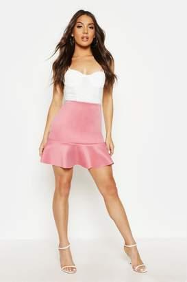 boohoo Peplum Hem Mini Skirt