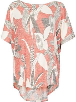 Womens *Tenki Red Floral Jersey Top