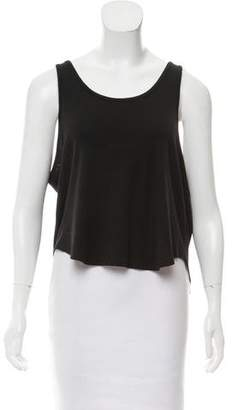 Theyskens' Theory Sleeveless Scoop Neck Top