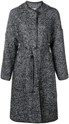 Pinko patterned belted Barile coat
