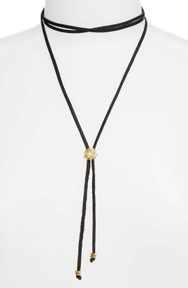 Women's Frasier Sterling Rosebud Bolo Wrap Necklace $38 thestylecure.com