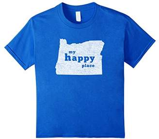 Oregon T-Shirt Distressed My Happy Place Tee