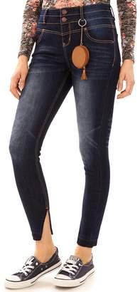 Juniors' Wallflower Sassy High Rise Skinny Jeans
