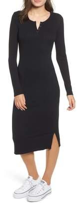 BP Ribbed Henley Midi Dress