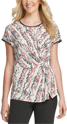 DKNY Printed Side-Knot T-Shirt