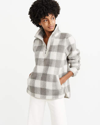 Abercrombie & Fitch Sherpa Half-Zip Pullover
