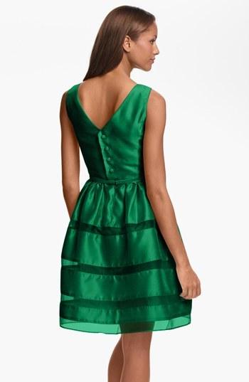 Taylor Dresses Tonal Stripe Fit & Flare Dress 2