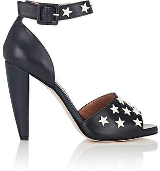 RED Valentino WOMEN'S STAR-EMBELLISHED LEATHER SANDALS