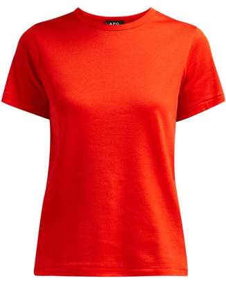 A.P.C. Short Sleeved Cotton T Shirt - Womens - Red