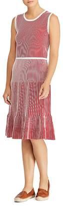 Lauren Ralph Lauren Ribbed Stripe Dress