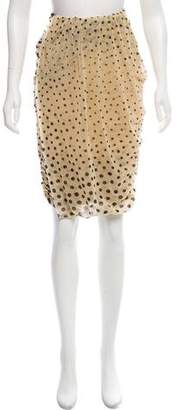 Fuzzi Polka Dot Ruched Skirt w/ Tags