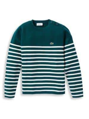 Lacoste Little Boy's& Boy's Milano Striped Sweater