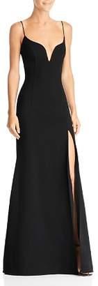 Jill Stuart Plunge-Neck Gown