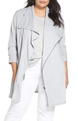 Caslon Asymmetrical Zip Long Cardigan