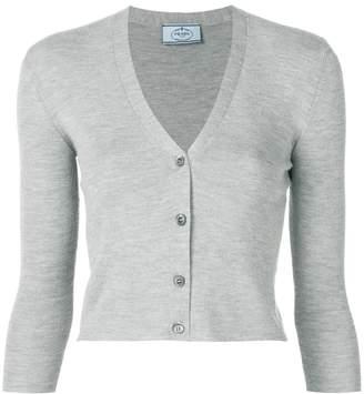 Prada v-neck knit cardigan