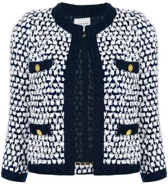 Edward Achour Paris embroidered fitted jacket