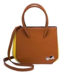 Marni Bicolor Top Handle Leather Satchel