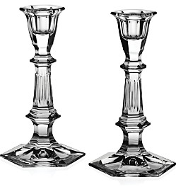 Crystal Esme Candlesticks, Set of 2