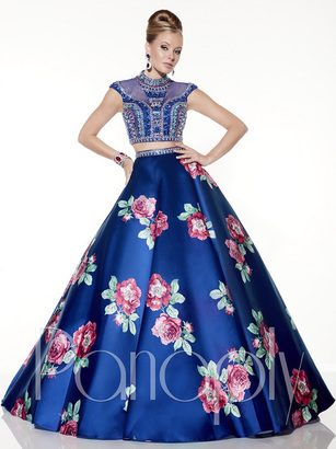 Panoply - Highly Embellished Choker Long Evening Gown 14792 $530 thestylecure.com