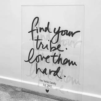 Baby Yorke Designs Acrylic Love Your Tribe Wall Art