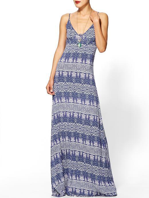 LAmade Heart Print Maxi Dress