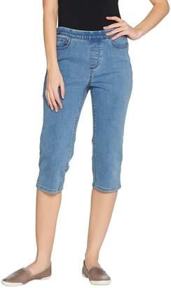 Denim & Co. Modern Denim Petite Pull-On Capri Jeans