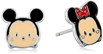Disney Sterling Tsum Tsum Mismatched Stud Earrings