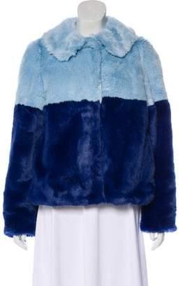 Alice + Olivia Faux Fur Short Coat