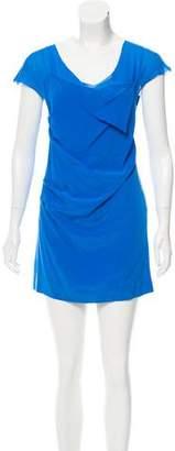 Madison Marcus Silk Draped Dress