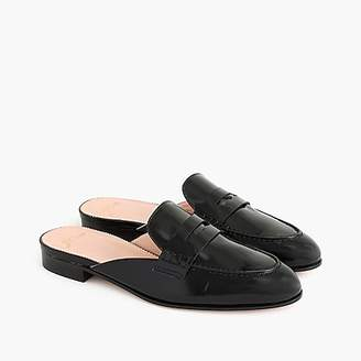 J.Crew Academy penny-loafer mules in patent leather