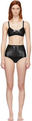 Lisa Marie Fernandez Black PVC Genevieve Bikini