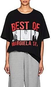 "MM6 MAISON MARGIELA Women's ""Best Of Margiela Six"" Cotton T-Shirt - Black"