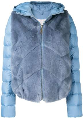 Liska mink fur padded hooded jacket