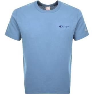 Champion Crew Neck Logo T Shirt Blue