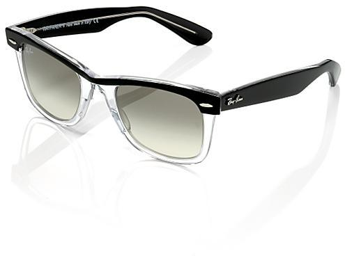 Ray-Ban Wayfarer II Sunglasses, Clear & Black