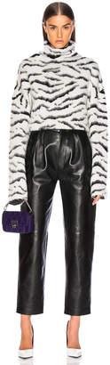 Givenchy Zebra Print Oversized Turtleneck Sweater