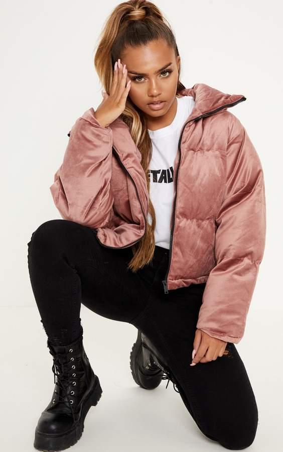 Pink Velvet Puffer