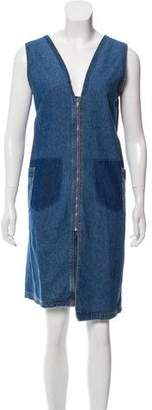 Sjyp Denim Shift Dress